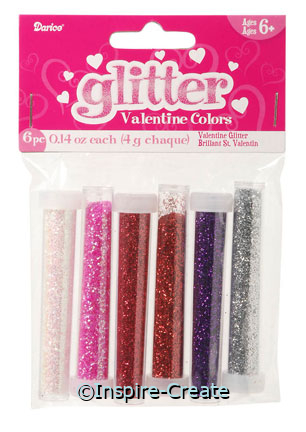 Small Valentine Glitter Tubes (6)*