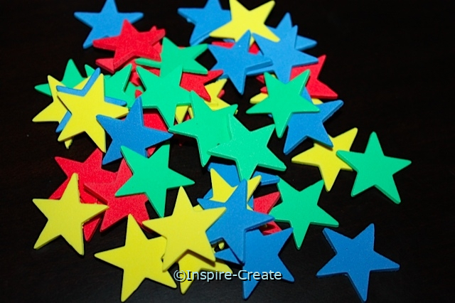 Small Multi Star Foam SHAPES (Bulk 216)*