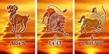 Aries, Leo, and Sagittarius