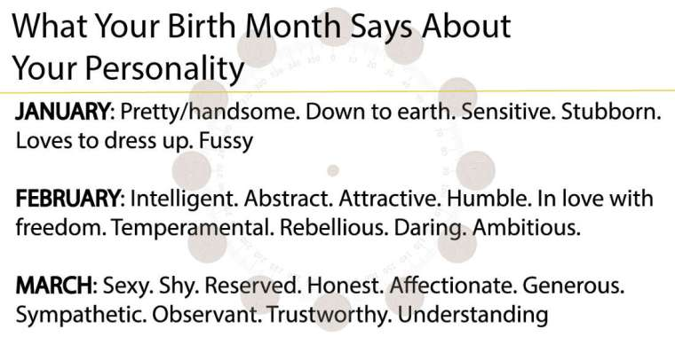 What Your Birth Month Says About Your Personality Inspiretoday