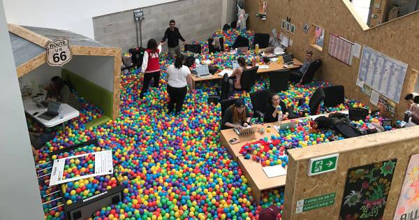 6. An Office Ball Pit