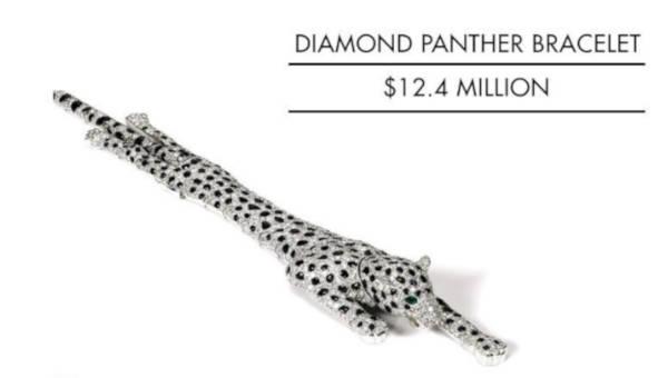 4. Diamond Panther Bracelet