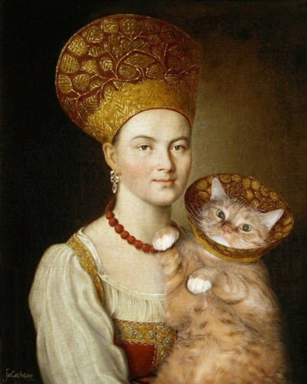 "17. ""Portrait of an Unknown Woman in Russian Costume"" by Argunov"