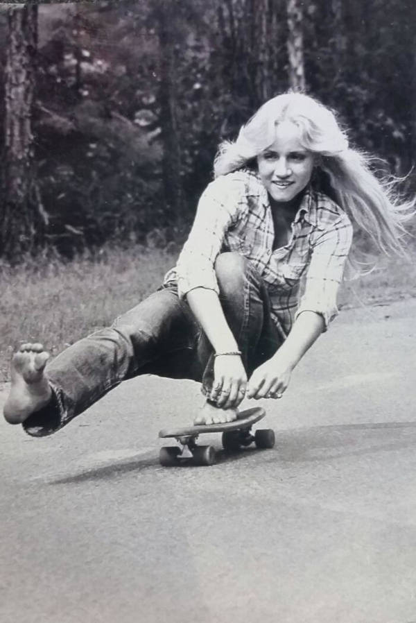 2. 'My Mother Skateboarding Barefoot In California In 1974'