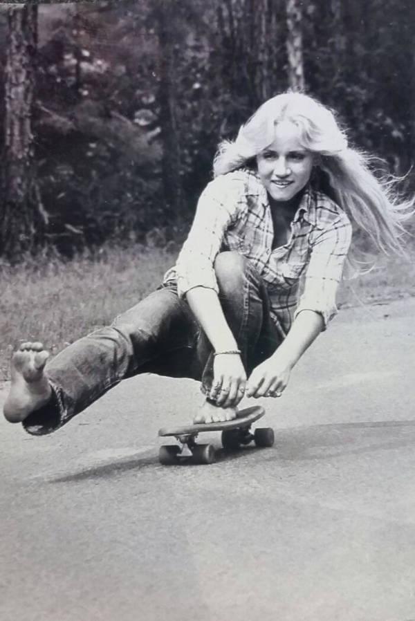 2. 'My Mother Skateboarding Barefoot In California In 1974'