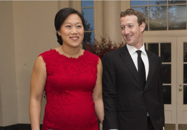 3. Priscilla Chan and Mark Zuckerberg