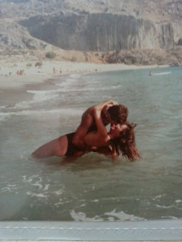 31. 'My Mother And Father Being Young And Awesome On Santorini Island, Greece, 1985. I Was Conceived There'