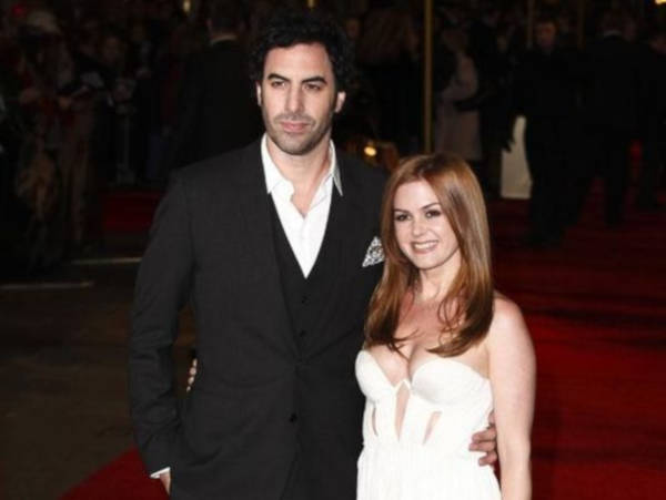 8. Isla Fisher and Sacha Baron
