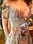 French Designer Creates Unique Dresses From The Spines of Books - 5