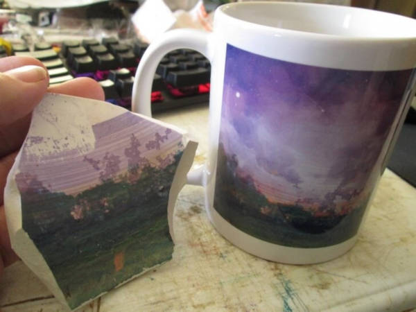 """14. """"Eleven Days Ago I Posted A Picture Of The Inside Of My Broken Paintbrush-mug"""