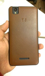 Image of the back leather cover bundled with the Yureka!