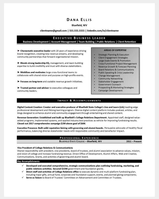 Higher Ed Transition Resume 1