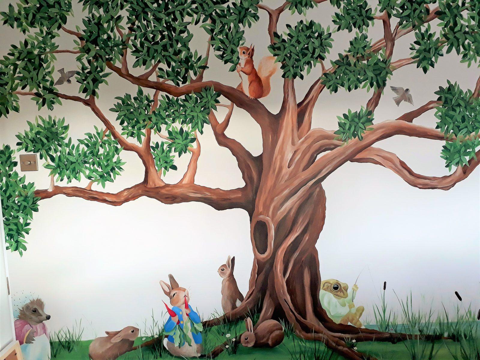 Beatrix Potter Nursery Murals