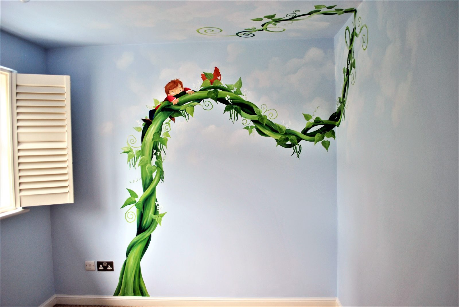 Jack and the Beanstalk Mural