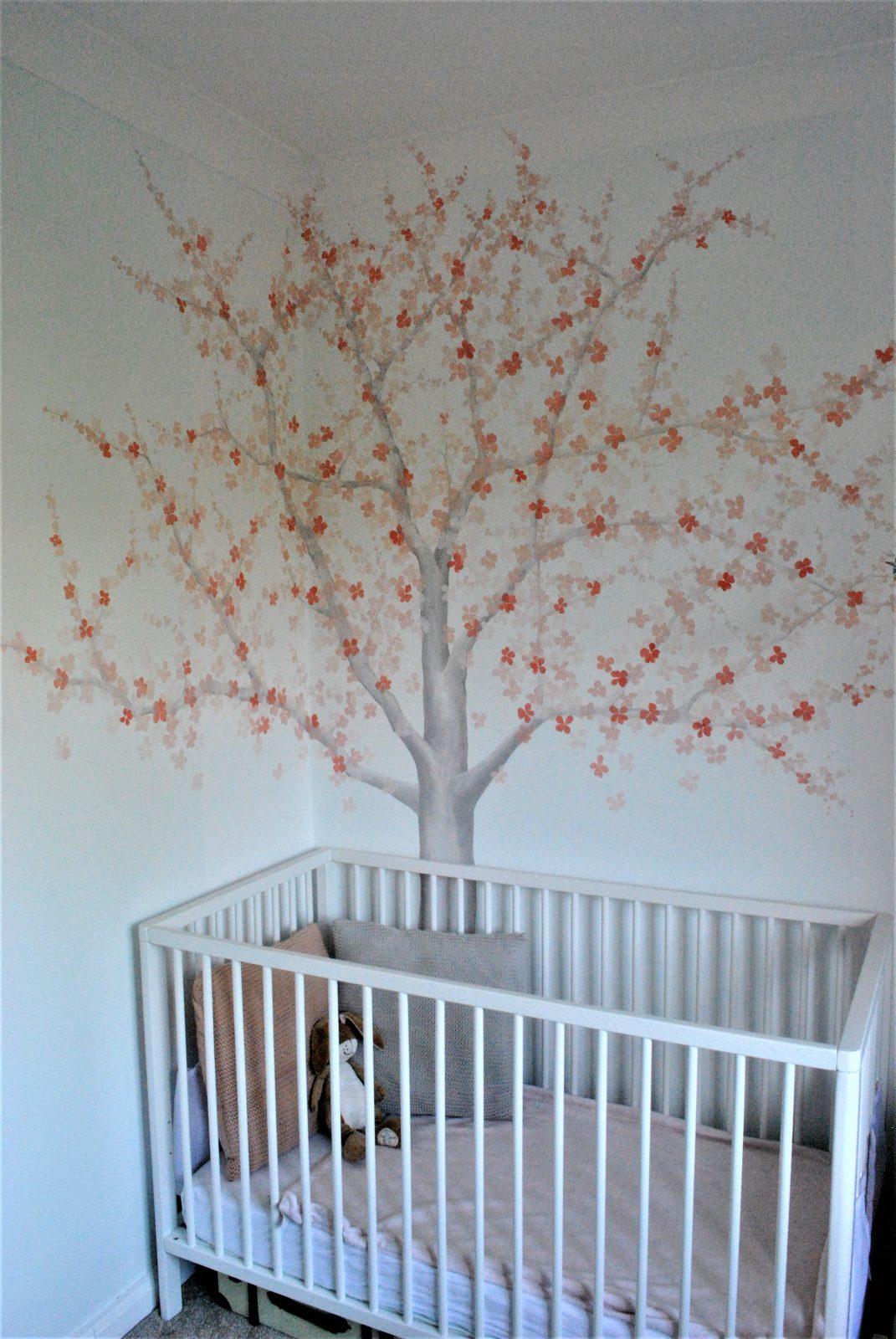 Cherry Blossom Nursery Murals