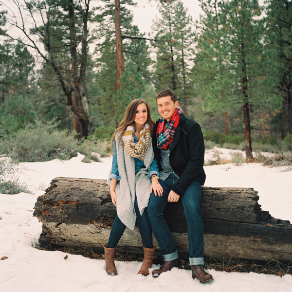 Snowy Big Bear Engagement Inspired By This