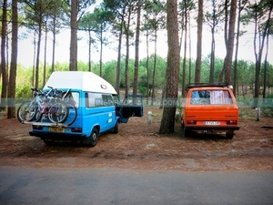 family camping road trip
