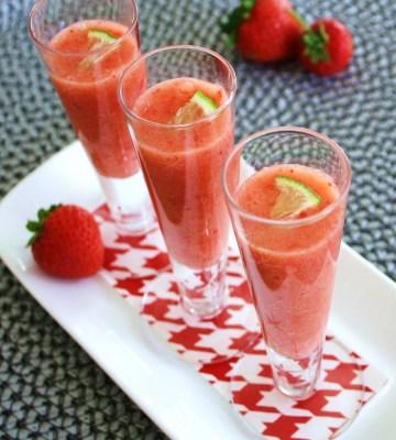 Strawberry tuesdays orange strawberry ginger lime shots for 360 inspired cuisine lethbridge