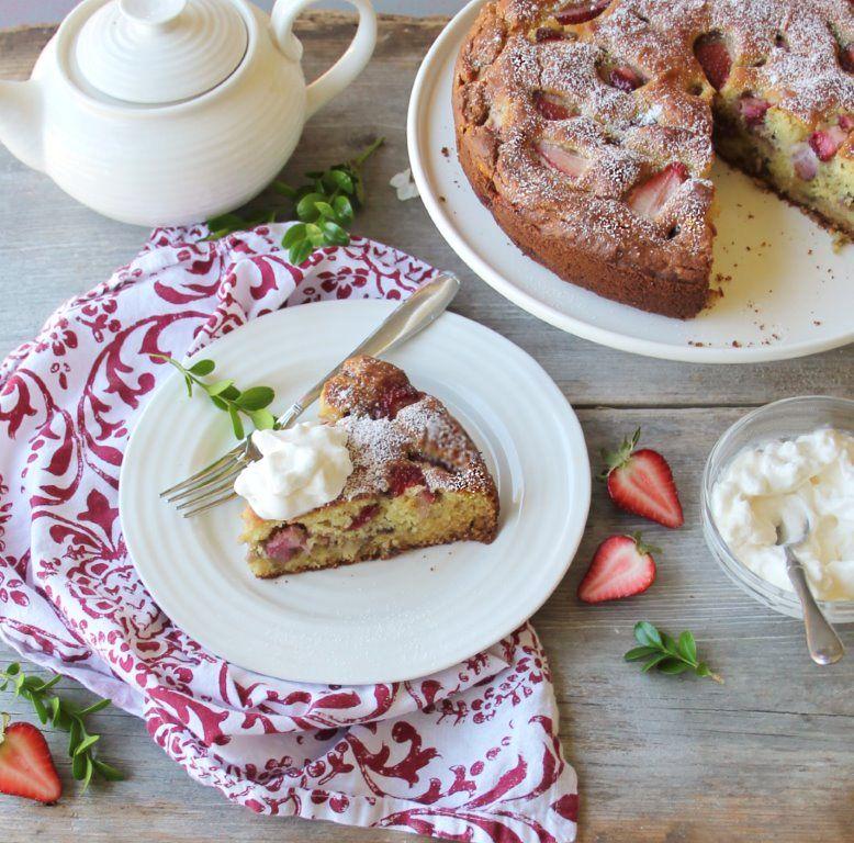 Strawberry Ricotta Cake (Gluten Free)