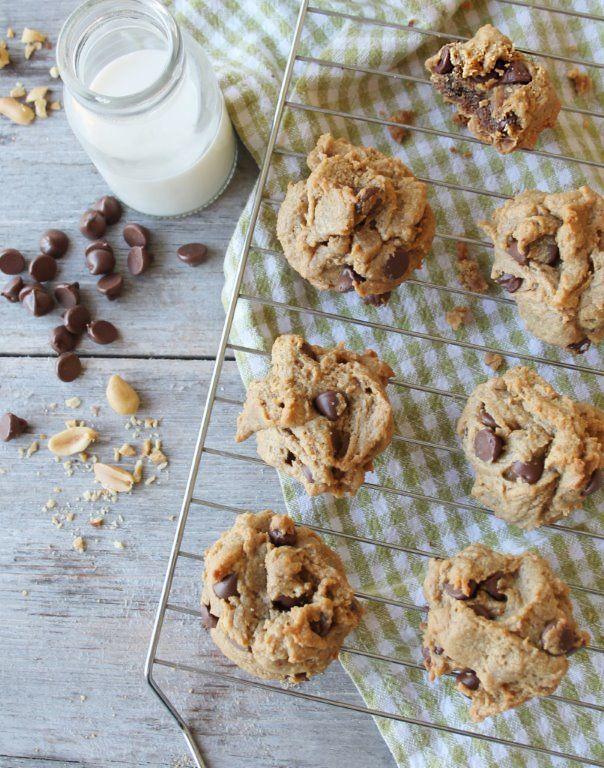 Flourless Peanut Butter Chocolate Chip Cookies (Gluten ...