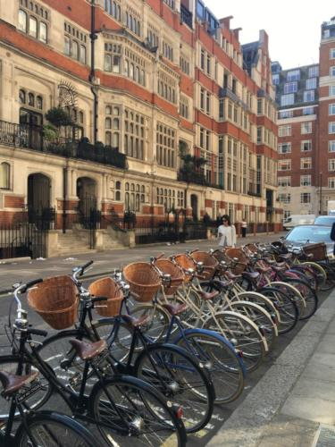 Corporate cycling tour around London.