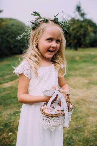Beautiful boho bridesmaid
