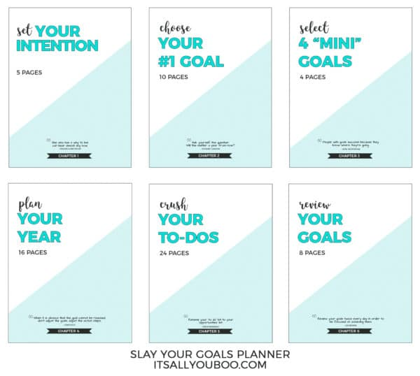 Slay Your Goals Planner 6 Chapters (v. 2.0)