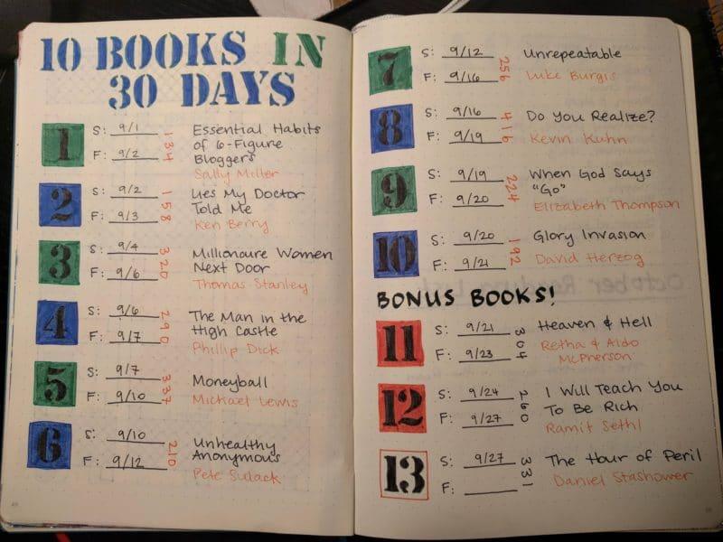 week thirty-four september challenge