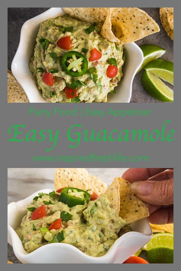 Easy Guacamole Pinterest image