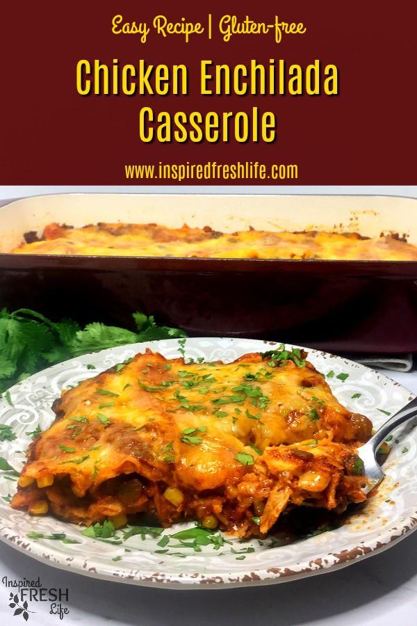 Chicken Enchilada Casserole Pinterest image