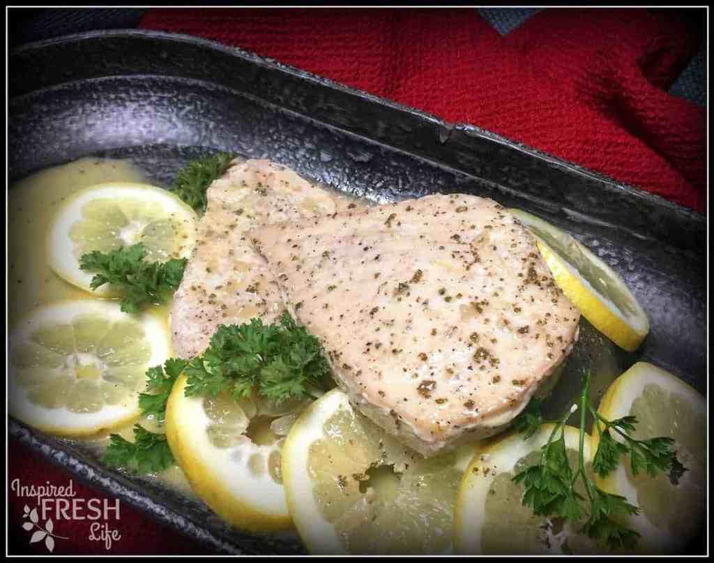 Grilled Swordfish with Garlic Sage Butter