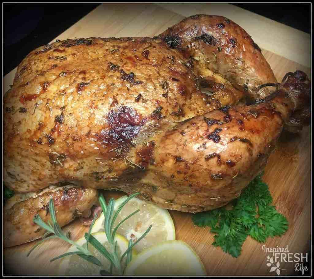 Smoked Lemon Rosemary Chicken