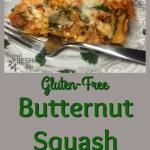 Pinterest image for butternut squash pasta bake