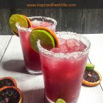 Skinny Blood Orange Margarita Pinterest image