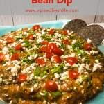 Pinterest image for Fiesta Black Bean Dip