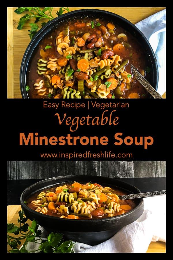 Vegetable Minestrone Soup Pinterest image