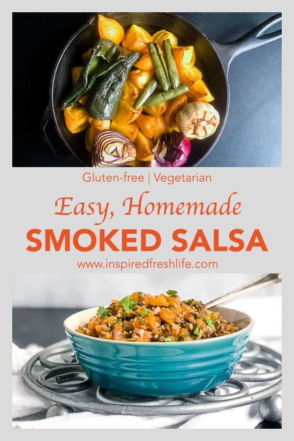 Pinterest image for Homemade Smoked Salsa