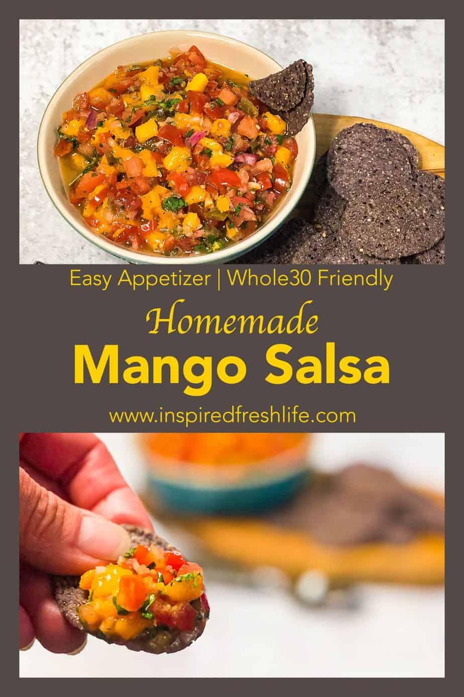 Pinterest image for Homemade Mango Salsa