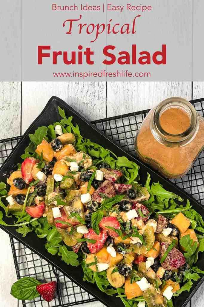 Pinterest image for Tropical Fruit Salad