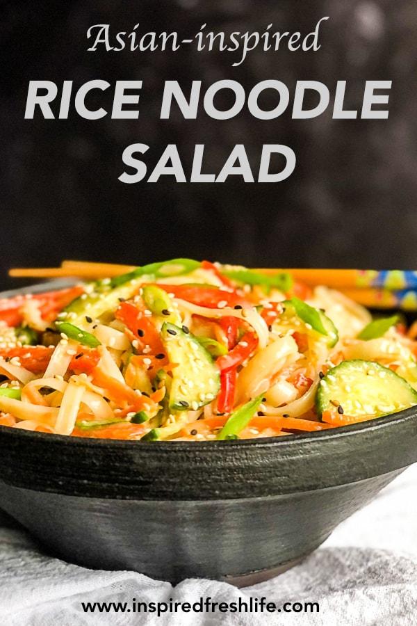 Pinterest image for Rice Noodle Salad
