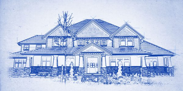 Custom Home Drawing