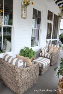 Front Porch White Wicker Furniture
