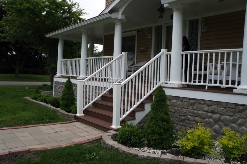 Front Steps After Front Step Replacement Front Steps We | House Entrance Steps Designs | Front Yard Stair | Semi Circle | Front Porch | Residential | Half Round