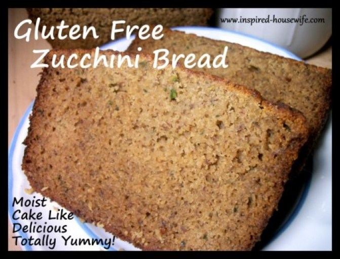 Inspired-Housewife: Gluten Free Zucchini Bread - Moist like cake, delicious flavor, can be dairy free, vegan, and can  be made with regular flour