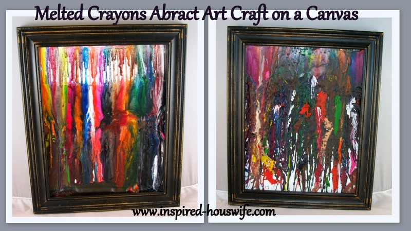 Melted Crayons Abstract Art Craft Inspired Housewife
