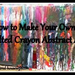 Melted Crayons Abstract Art Craft