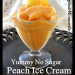 No Sugar Homemade Peach Ice Cream