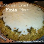 Cauliflower Crust Pesto Pizza (Gluten Free)