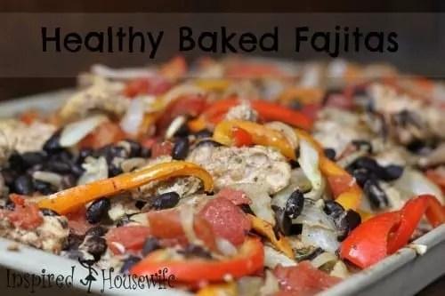 Healthy Baked Fajitas