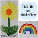 Painting with Marshmallows